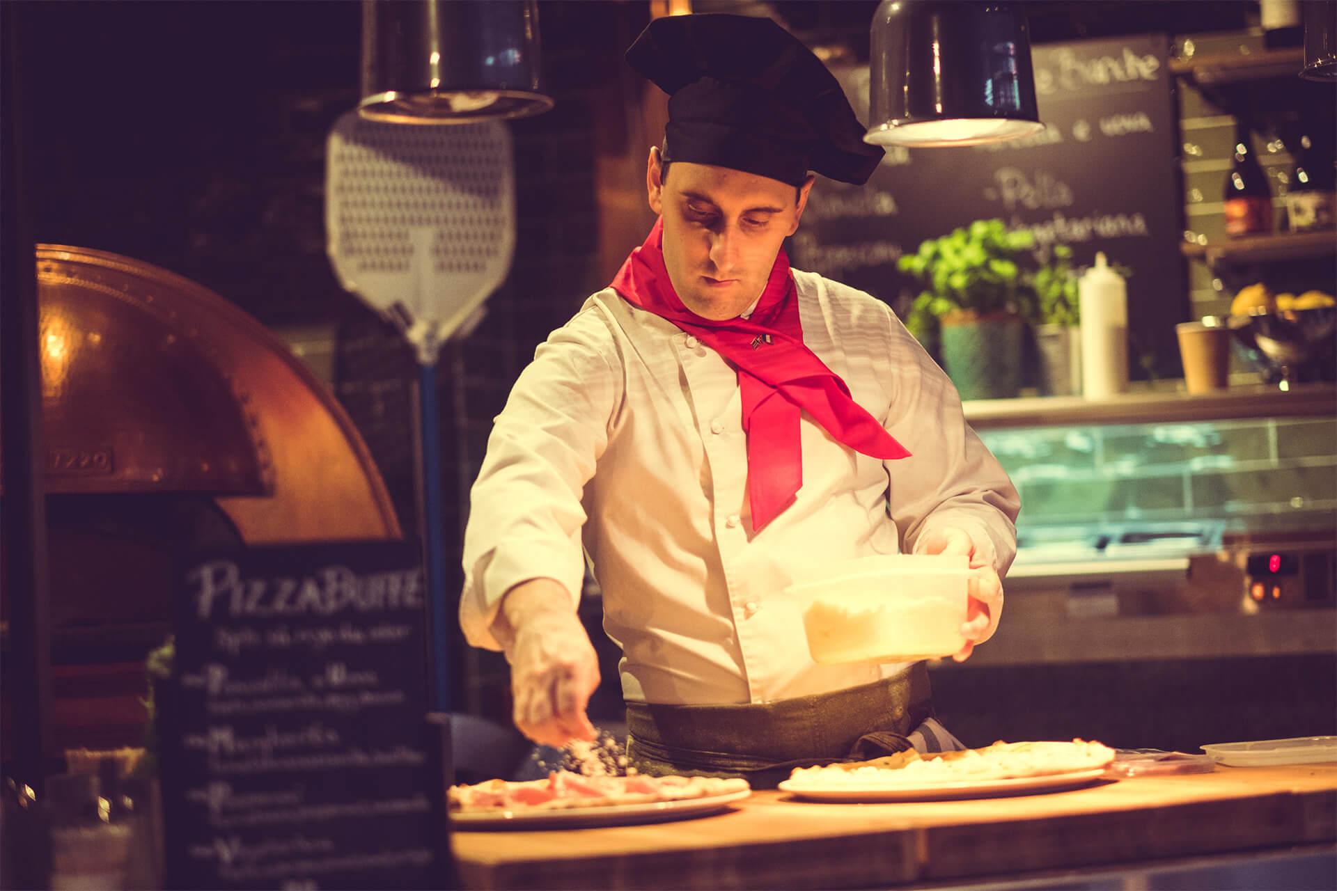 Kokk hos Den Glade Italiener