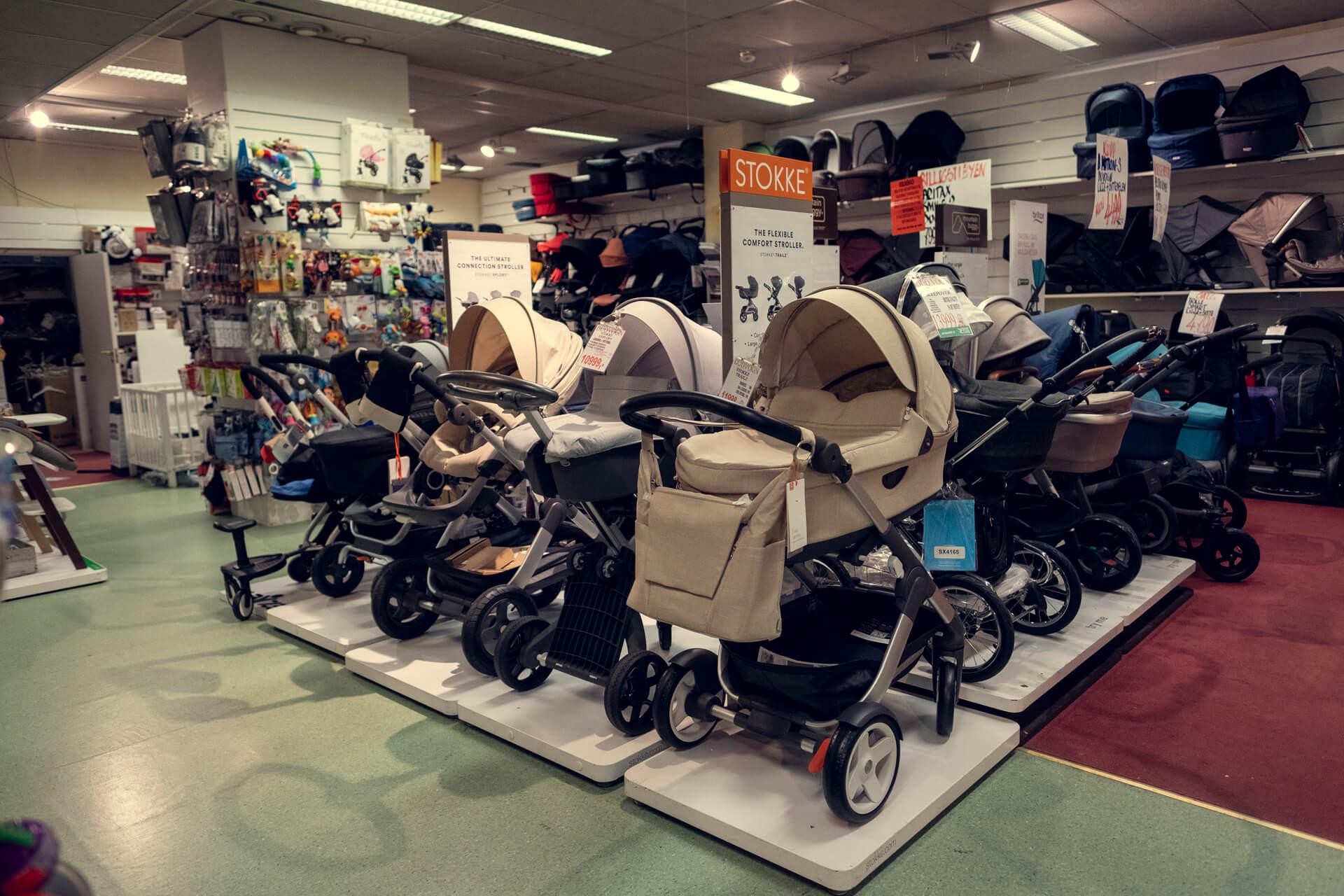 Babymagasinet på Grønlands Torg barnevogner leker barneklær