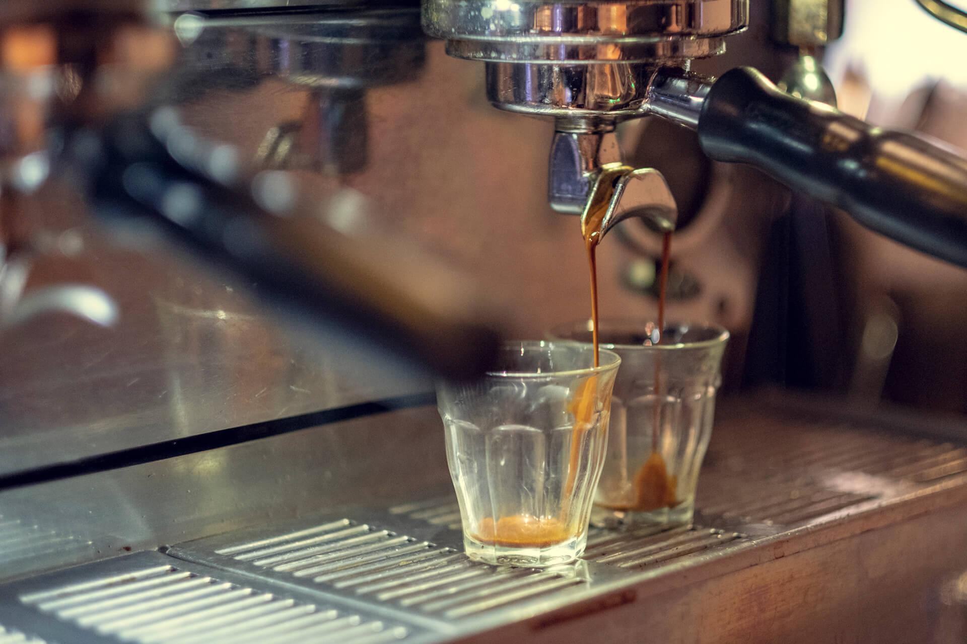 Fersk laget kaffe på Evita Espressobar på Grønland Torg