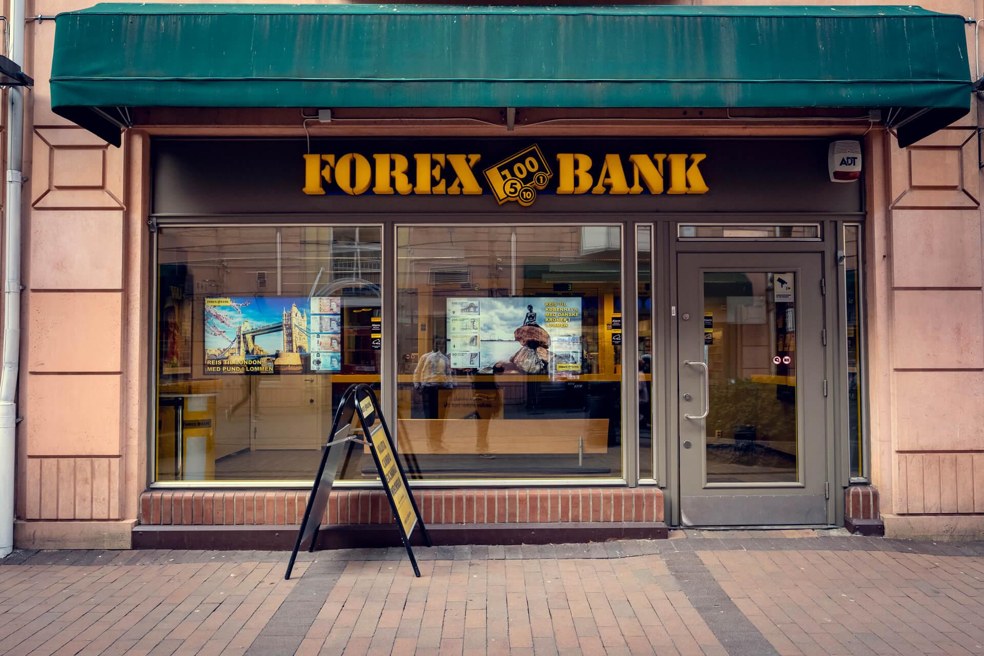 Fasade av Forex bank på Grønlands Torg