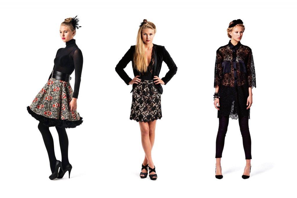 Modeller viser frem klær fra Tine Solheim