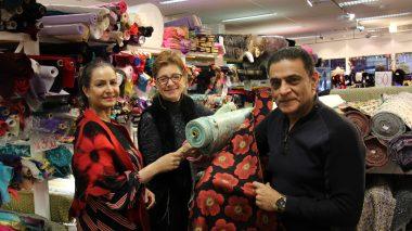 Tine Solheim på Saab tekstil Grønlands Torg