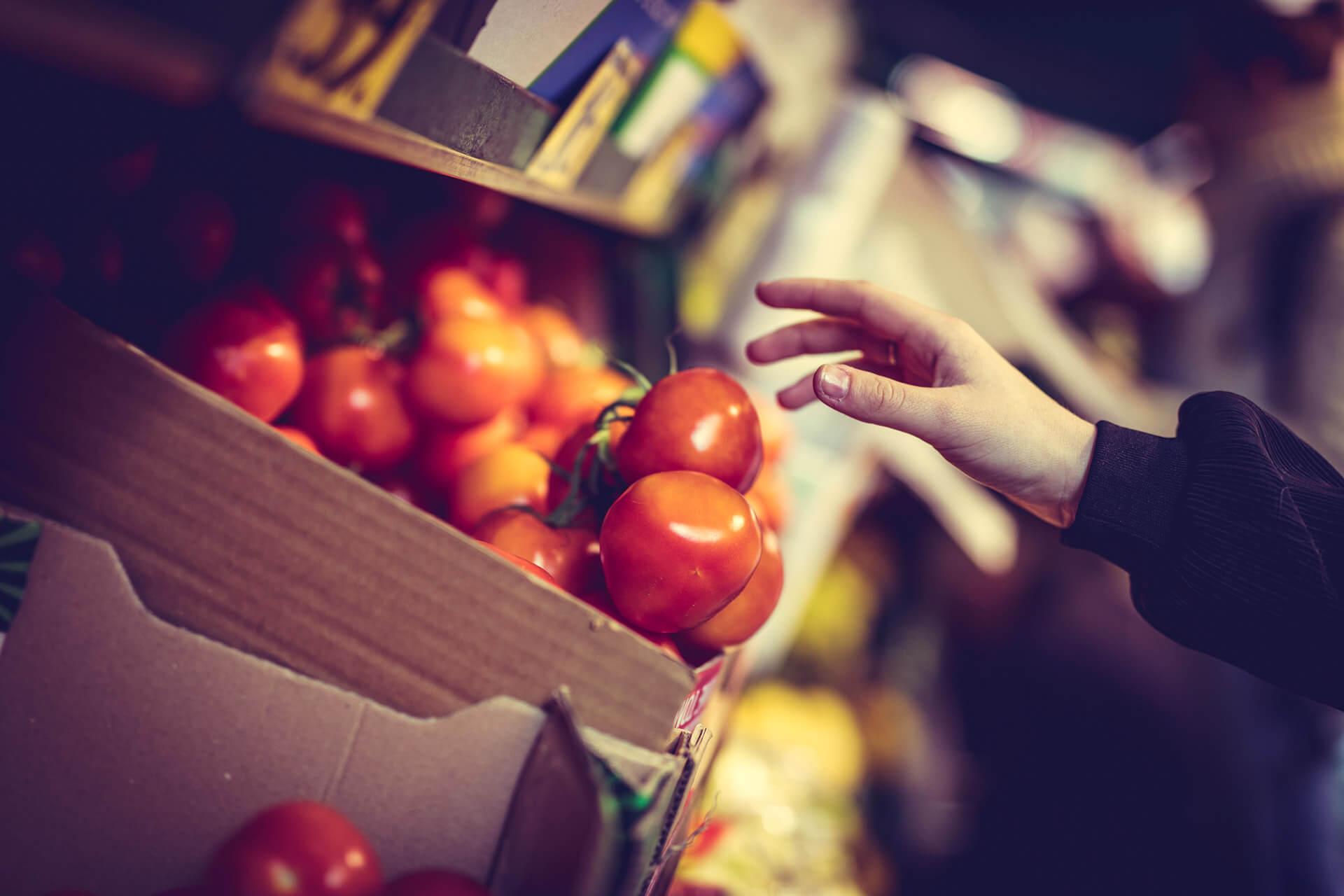 Grønlands Torg - Tomater og annet frukt og grønt