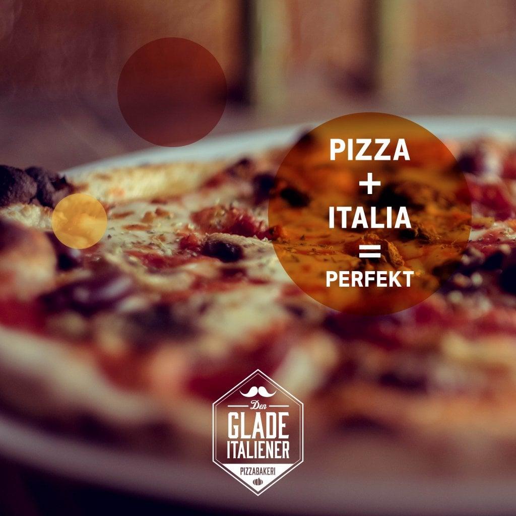 Deilig pizza hos Den Glade Italiener