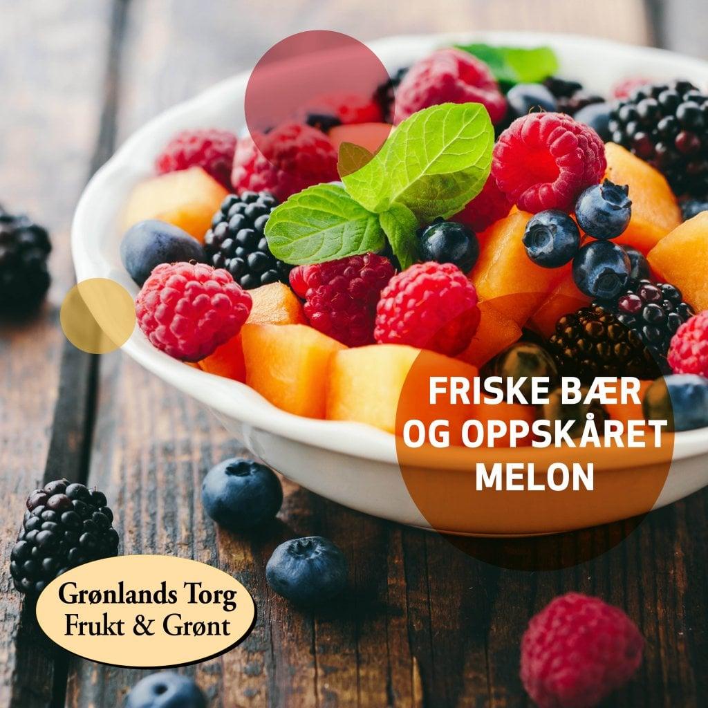 Deilige friske frukt og bær på matfestival